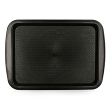 New design black plastic burger cake car food tray