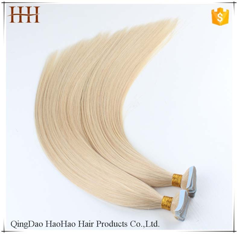 Hot selling wholesale 100% european hair remy tape hair extension human