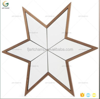 Different Shaped Mirrors popular star shape wall wood mirror - buy wall mirror,different