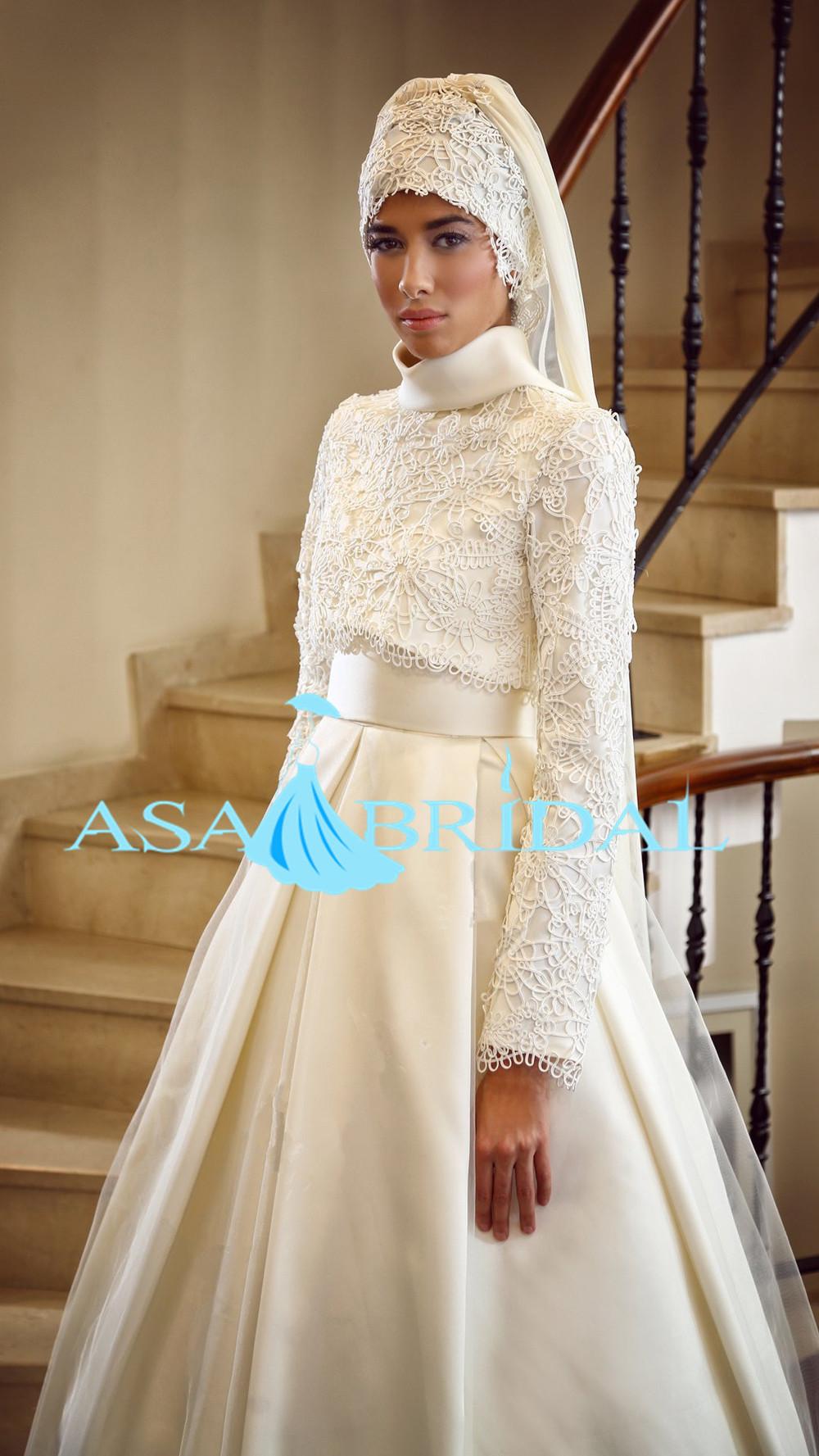 2015 Nouvelle Arabe Blanc Manches Longues Gelinlik Perles Turc Hijab Musulman Robe De Mariée Musl 1891 Buy Robe De Mariée Musulmane Hijabrobe De