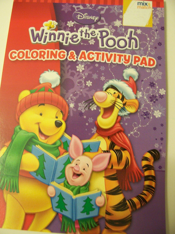 Disney Winnie the Pooh Coloring & Activity Pad ~ Christmas Edition (Pooh, Tigger, and Piglet Caroling)