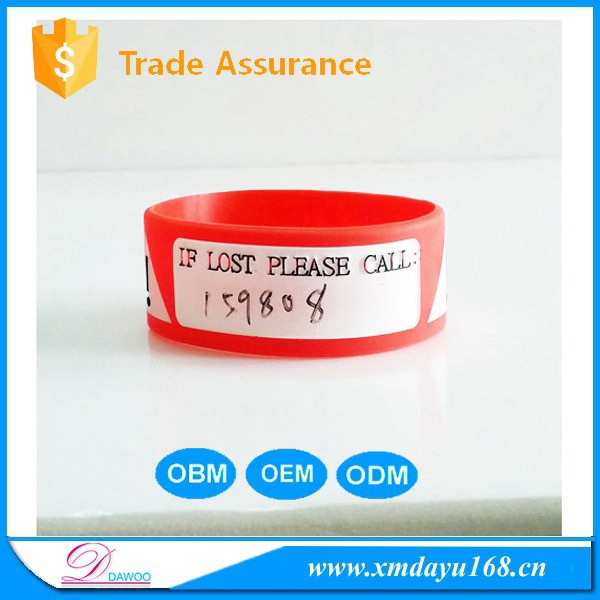 Personalize Writable wristband,Silicone printable wristband