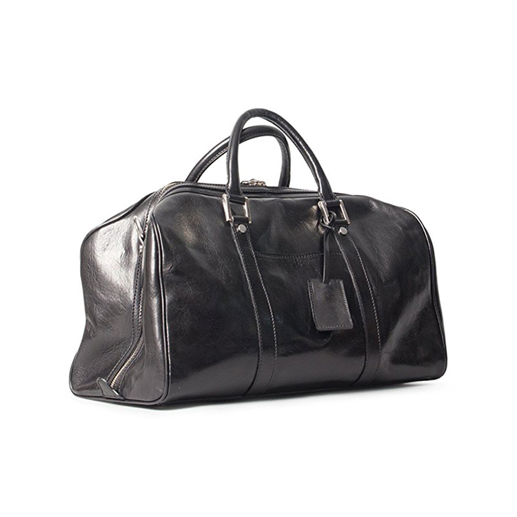 1DF0118 Good Quality Travel Luggage Weekender PU Leather Mens Black Luxury Duffle Bag From China Factory