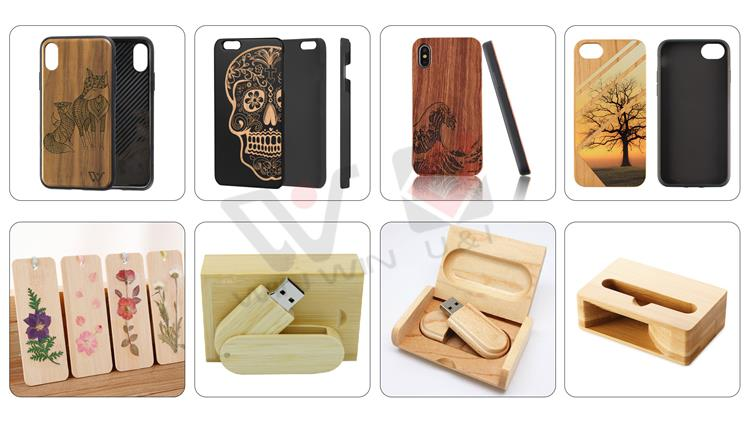 Customized Wooden Shockproof Protective Case with Anti-Lost  Hook For Apple AirPods Earbuds