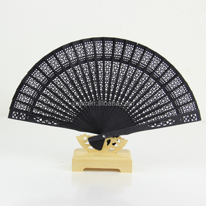 2016 New Arrival Personalized Black Sandalwood Hand Fans for wedding favors GYSC101-6