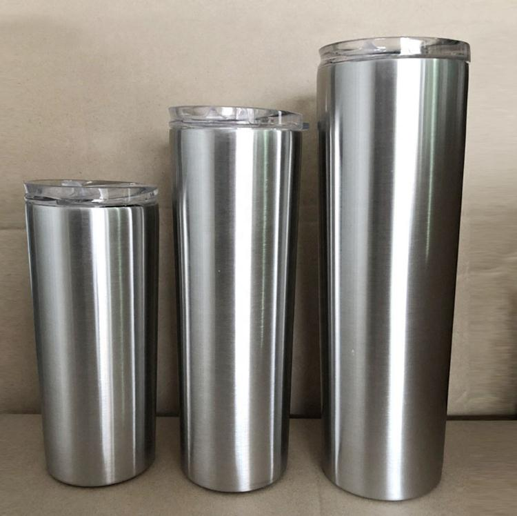 15oz Skinny tumbler straight cup double wall stainless steel vacuum insulated cup