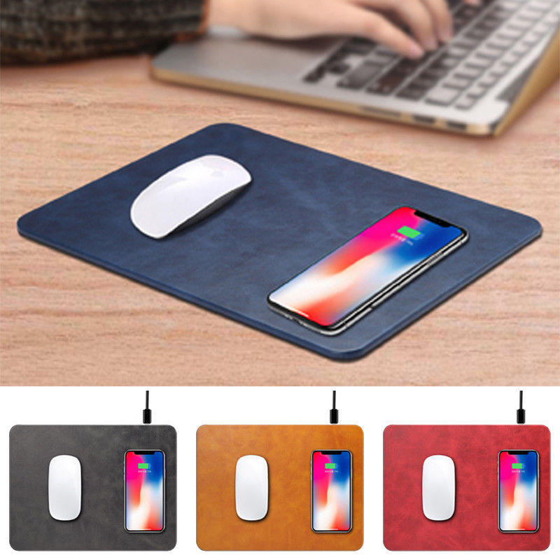 Mobile Phone Qi Wireless Charger Ricarica Pad Tappetino per il Mouse Per iPhone X 8 Per Samsung S8