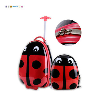 Wholesale licensed ABS wheeled travel world school luggage trolley luggage and travel bag