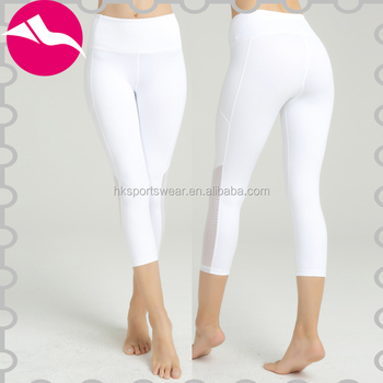 Sexy white yoga pants