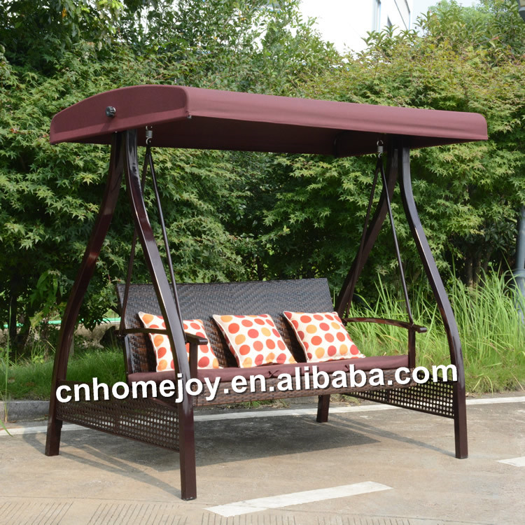 Outdoor 2 seater rattan swing chair, indoor rattan swing chair