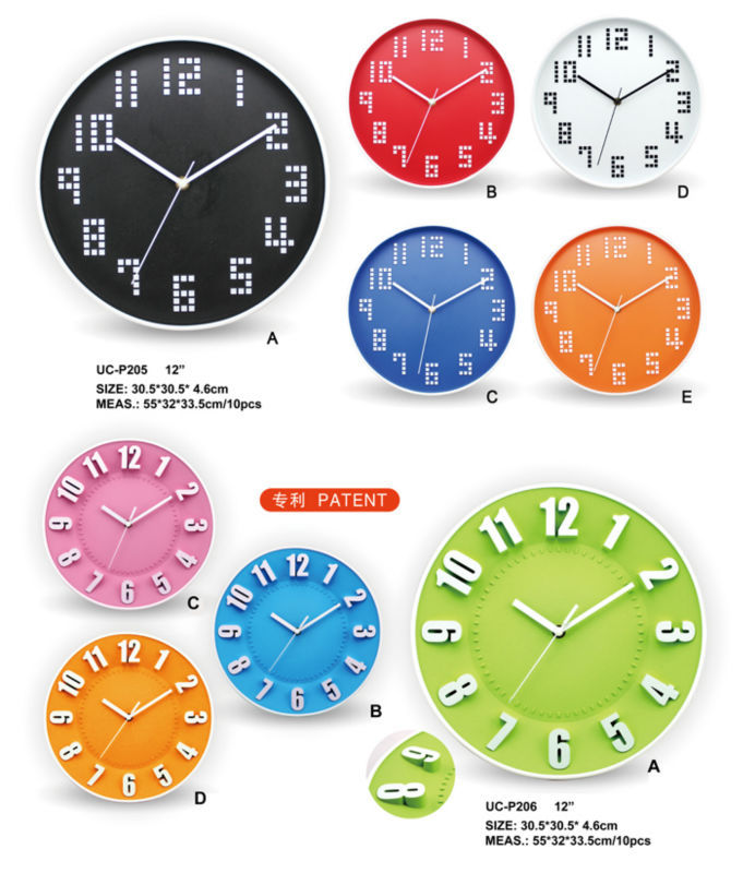 Big Size Cheap Plastic Promotional Wall Clocks For Sale
