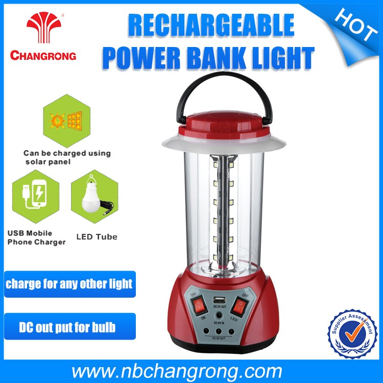 good quality battery 6AH Rechargeable Solar Led Camping Lantern with fm raido and MP3