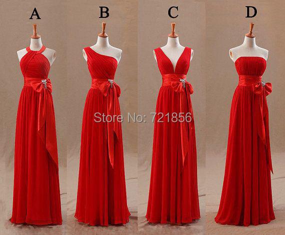 Compra Beige Vestidos De Dama De Honor Online Al Por Mayor: Compra Vestido De Dama De Honor De Color Rojo Online Al