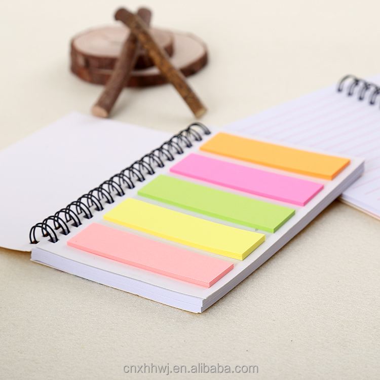 Sticky note Spiral notebook with pen and elastic penloop on front cover