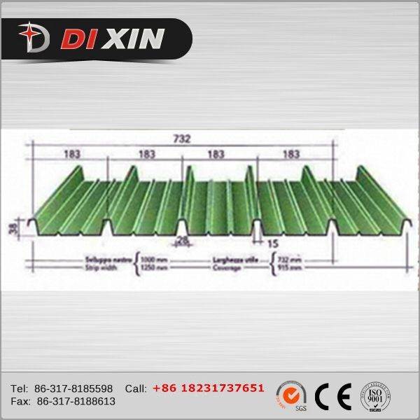 Cangzhou Dixin 2016 hot sale roofing sheets roll forming machines