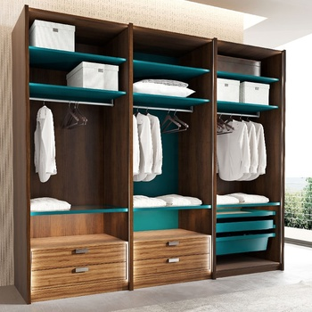Guangzhou Bedroom Furniture Wooden Wardrobe Closet Manufacturer
