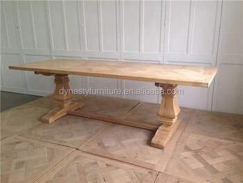 Rustic Restaurant Dining Table Unfinished Wood Furniture Whole