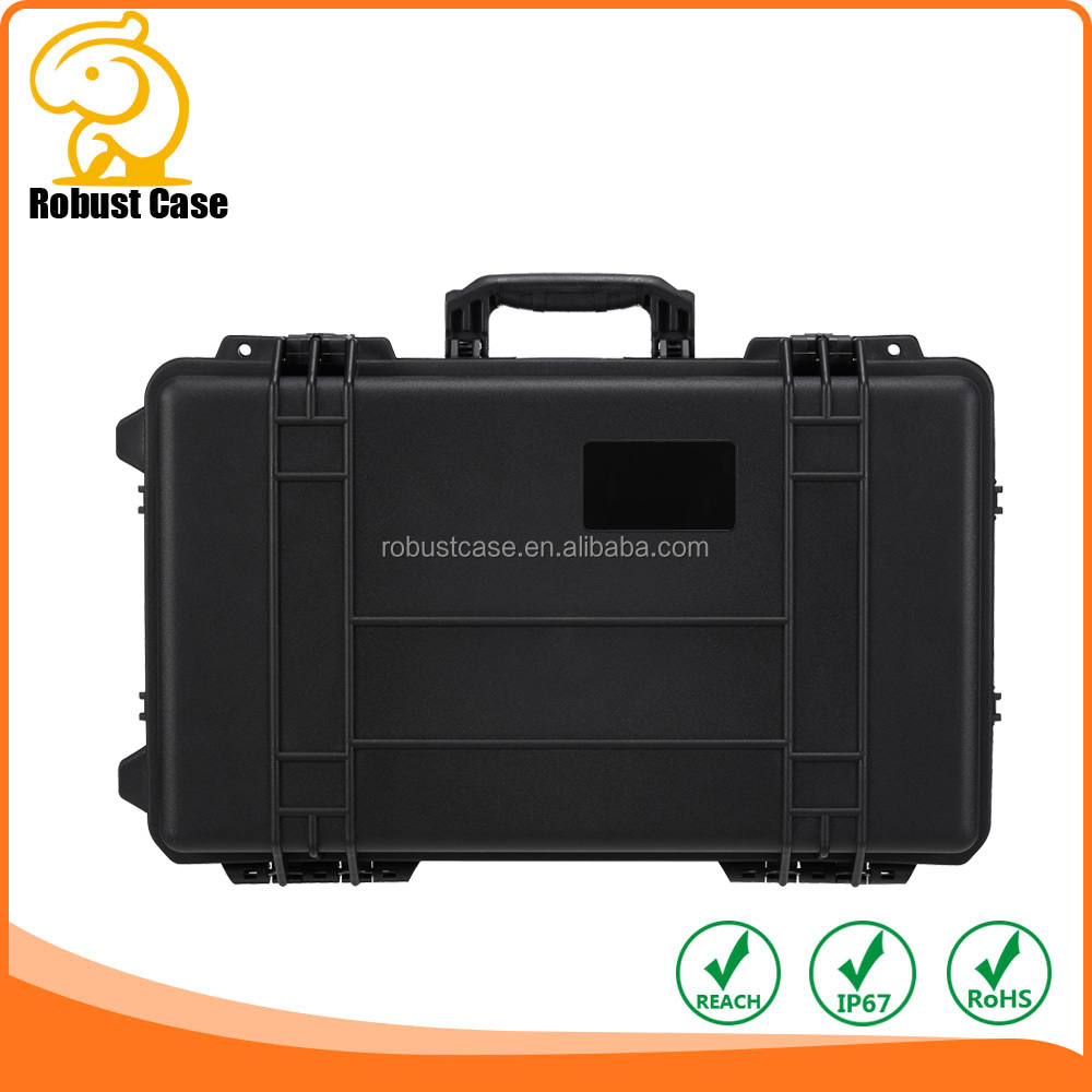 Plastic waterproof case to hold things related to Photographic apparatus,Gun and Professional Shooting Range toolbox