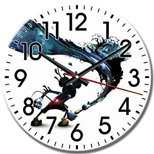 Quiet Disney Epic Mickey Arabic Numbers Battery Operated Personalized Round Wall Clock Frameless 10 Inch / 25 cm Diameter