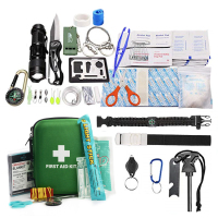 Certificate Approved First Aid Survival Kit, Emergency Kit Earthquake Survival Kit Trauma Case Bag for Car,Home,Outdoor