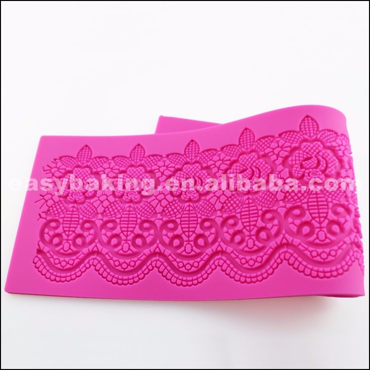 SLM-24 Lovely Silicone Mats Lace Fondant Molds for cake decorating