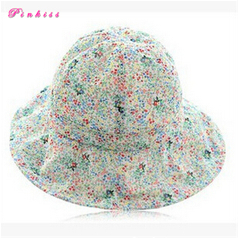 c96a4fb25dadc Get Quotations · Summer Style Floral Outdoor Unisex Bucket Hats Printed  Cotton Men Womens Fishing Hat