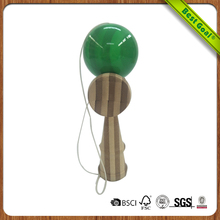 Wooden kendama cup and ball game skill toy