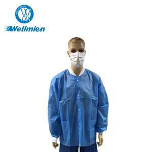 PP Non Woven Disposable Visitor Hospital Uniform Lab Coat