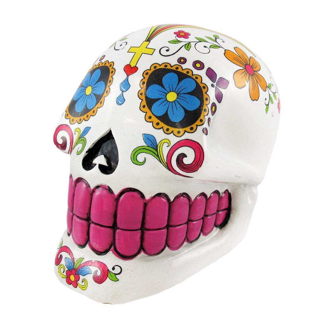 Buy Glossy White Day Of The Dead 3D Skull Trinket Box / Ashtray in ...