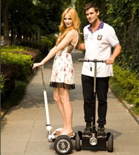 2014 new arrival cheap folding electric moped e scooter 700W*2