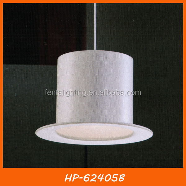 White tom dixon hat shade bar pendant light HP-62405B