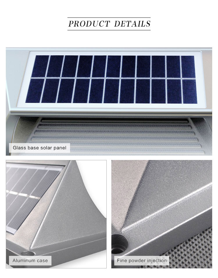 2018 Factory Aluminum Material Solar Step Wall Light Led For Housing