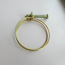 Custom Double Wire Blat Pipe Clips Flue Pipe Clamps Air Hose Clips Manufacturer