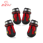 ZYZ PET protective dog shoes, anti-slip sole pet shoes with reflective fastening straps