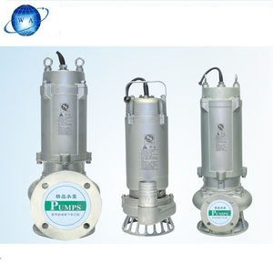 Made in china anti-corrosion stainless steel and plastic centrifugal submersible pump