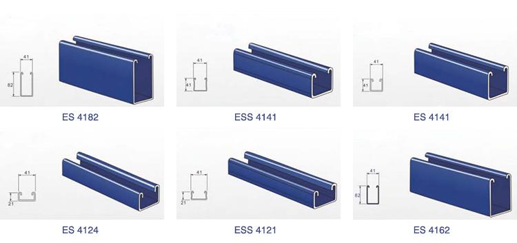 Half Slot Electrical Galvanized Stainless steel Unistrut C