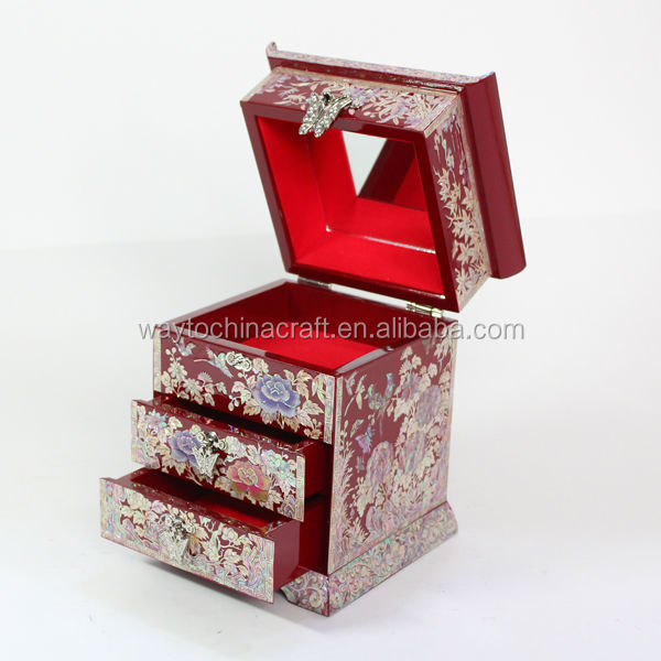multi-functional  wooden make up jewellery box
