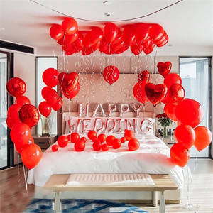110PCS Wedding room is decorated pearl latex free balloons set