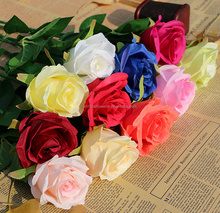 Wholesale real touch silk roses artificial flowers for flower arrangement