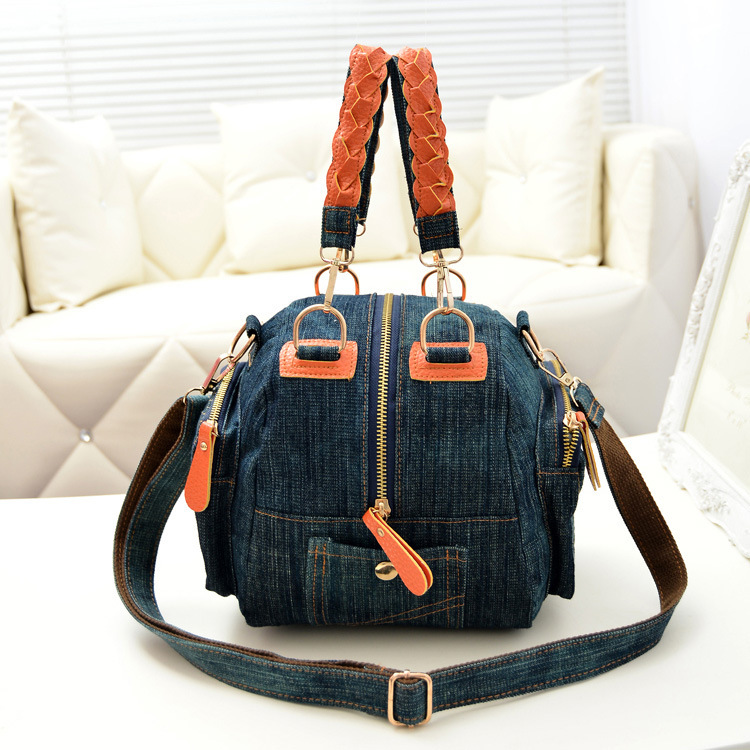 bfeccaacec5 Get Quotations · 2015 Famous Brand Designer Women Denim Tote Bag Fashion  Casual All-match Lady Trunk Bags