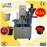high quality espresso coffee capsule k cup filling sealing machine