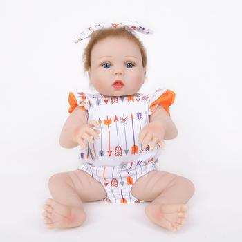 82849a8189bb Recién Nacido completo silicona Bebe muñeca Reborn 22 pulgadas vinilo realista  muñeca de colección toque suave