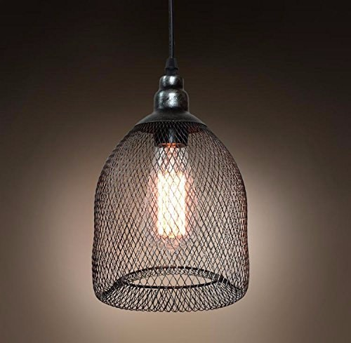 6.3-1 Vintage Industrial Pendant Light With Metal Mesh And Wire ...