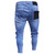 New Italy Style Men's Distressed Destroyed Badge Pants Art Patches Skinny Biker White Jeans Slim Trousers