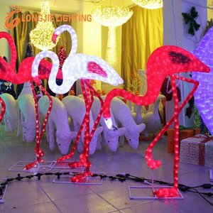 lighted flamingo 3d led animal light