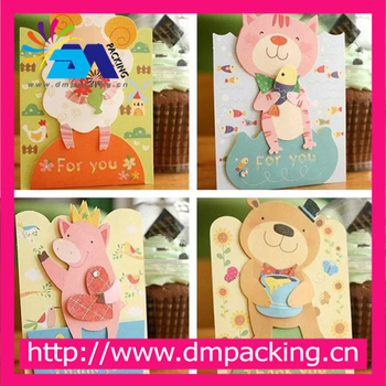 Kids Gift Korean Creative Lovely Cartoon Bear Greeting Cards Thank