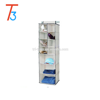8 Pocket Shoe And 3 Shelf Hanging Closet Sweater Organizer Buy
