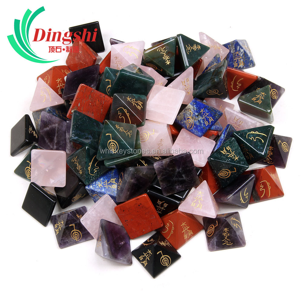 Wholesale Crystal Therapy Power Engraved Reiki Healing Orgone Pyramid