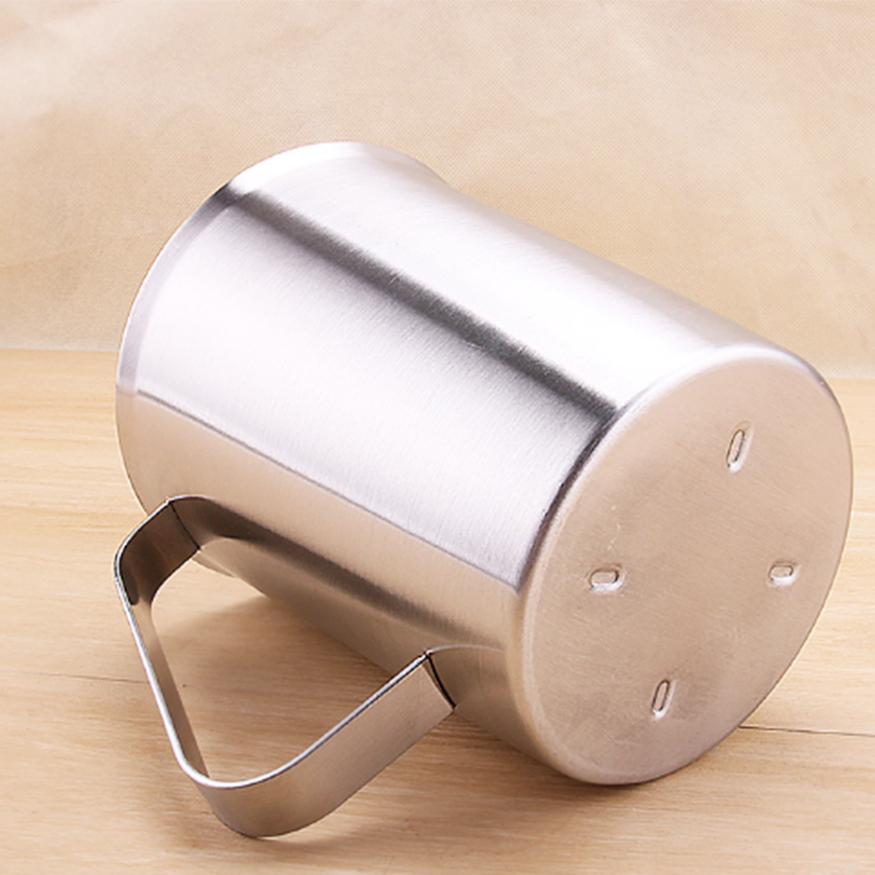 1L 304 Stainless Steel Milk Frothing Pitcher Measuring Cup w// Graduation