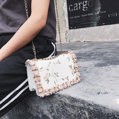 9F005 Wholesale small square flower shoulder handbags for women shoulder bag